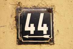 House number on a wall Stock Image