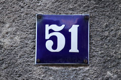 House number on a wall Royalty Free Stock Photo