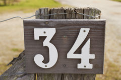 House number 34 Stock Photo