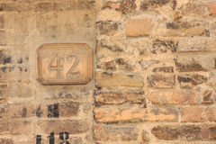 House number 42 Stock Photo