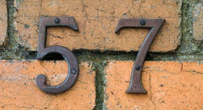 House numbers Royalty Free Stock Images