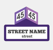 House numbers boards sign isolated Stock Photo