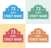 House numbers boards sign isolated royalty free illustration