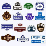 House numbers boards sign  Royalty Free Stock Photography