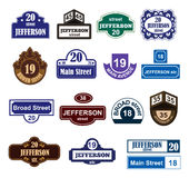 House numbers boards sign  Stock Images