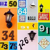 House numbers Royalty Free Stock Photography