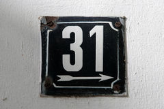 House numbers Royalty Free Stock Image