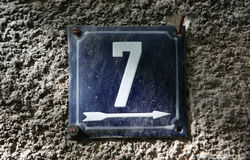 House numbers Stock Photography