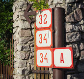 House numbers Royalty Free Stock Photos