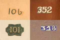 House numbers in Old Havana #2 Stock Image