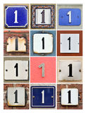 House Numbers One Stock Photos
