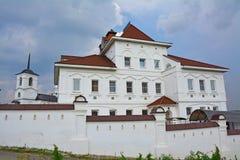 The house for nuns and belltower of Vvedenskaya Church in Spaso-Preobrazhensky Vorotynsky monastery Royalty Free Stock Photo