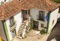 House in Obidos Royalty Free Stock Images