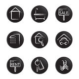 House object icon set Royalty Free Stock Image