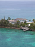 House on the ocean. Front in the Bahamas Stock Images