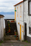 House on the ocean. Beautiful house on the ocean, Pico island, Azores Stock Photography