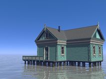 House and ocean Royalty Free Stock Image