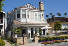 House on Ocean Front. In Newport Beach, California Royalty Free Stock Images