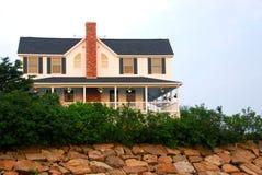 House on ocean shore Royalty Free Stock Photos