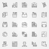 House or office moving icons Royalty Free Stock Photography