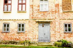 House with old brick wall Royalty Free Stock Images