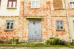 House with old brick wall Royalty Free Stock Photos