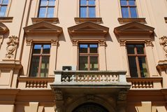 House on the old city in Cracow Royalty Free Stock Photo