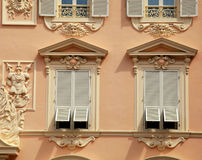 House with old french grey shutter windows in Monaco Stock Image