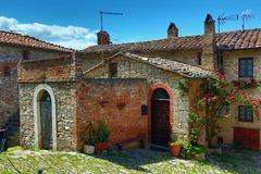 House in old Italy town Stock Photos