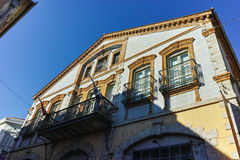 House in old town of Xanthi, East Macedonia and Thrace Royalty Free Stock Photos