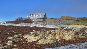 House On A Tidal Island Off Guernsey Royalty Free Stock Photos