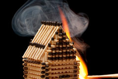 Free House On Fire Royalty Free Stock Photo - 13870255