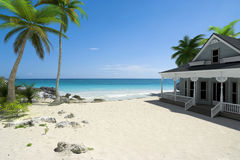 Free House On The Beach Royalty Free Stock Photo - 12868285