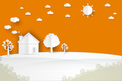 Free House On The Hill Stock Image - 92799171
