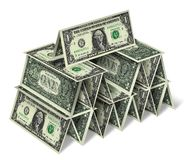 House of one dollar bills Royalty Free Stock Images