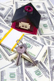 House of one hundred dollar bills Stock Images