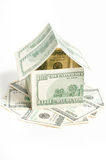 House of one hundred dollar bills Stock Photos