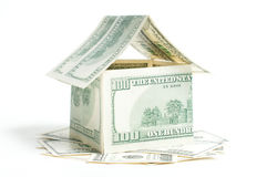 House of one hundred dollar bills Royalty Free Stock Photography