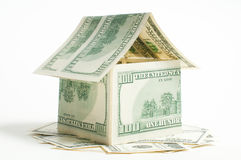 House of one hundred dollar bills Royalty Free Stock Image