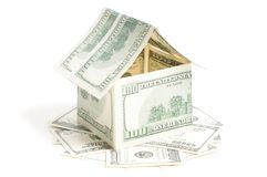 House of one hundred dollar bills Royalty Free Stock Photos