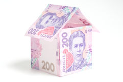 House of one hundred dollar bills Royalty Free Stock Images
