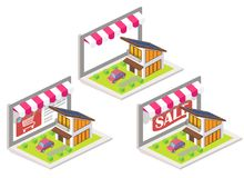 House online 3d isometric vector illustration Stock Photos