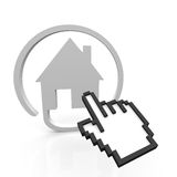 House online. House sign wit a pointer Royalty Free Stock Image
