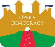 The house of opera royalty free illustration