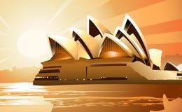 house opera sunrise sydney иллюстрация штока