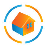 House orange and blue logo Royalty Free Stock Image