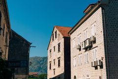 The house with orange tiled roof. Houses in Croatia and Monteneg Stock Photography