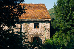 The house with orange tiled roof. Houses in Croatia and Monteneg Royalty Free Stock Image