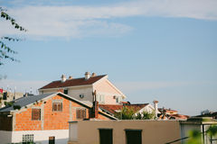 The house with orange tiled roof. Houses in Croatia and Monteneg Stock Photos