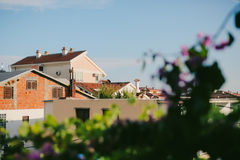 The house with orange tiled roof. Houses in Croatia and Monteneg Royalty Free Stock Photos